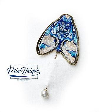 """Brosa """"Mariposa"""" (albastru)"""