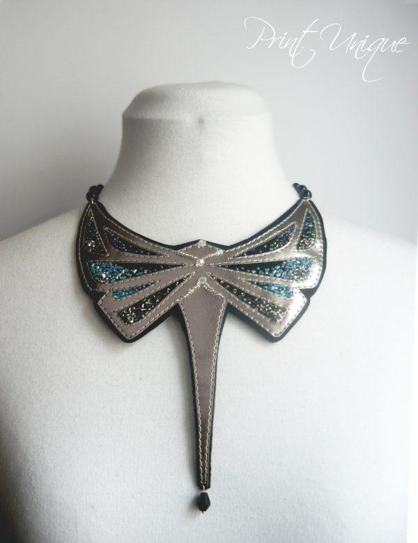 colier silver Dragon