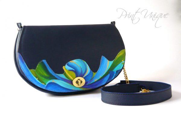 Blue Abstract Poppy
